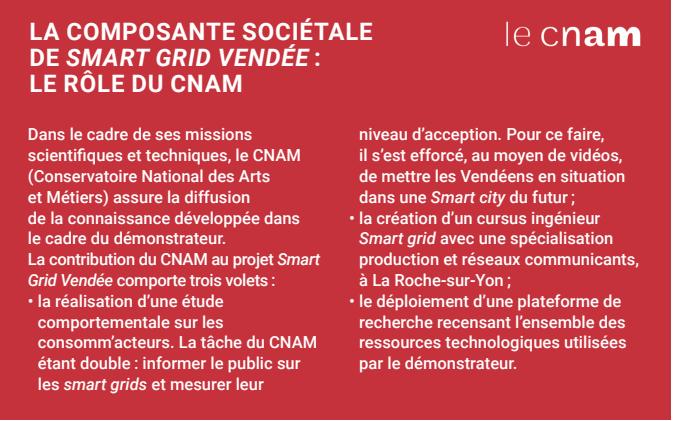 La composante sociétale du smart grid Vendée : le rôle du CNAM